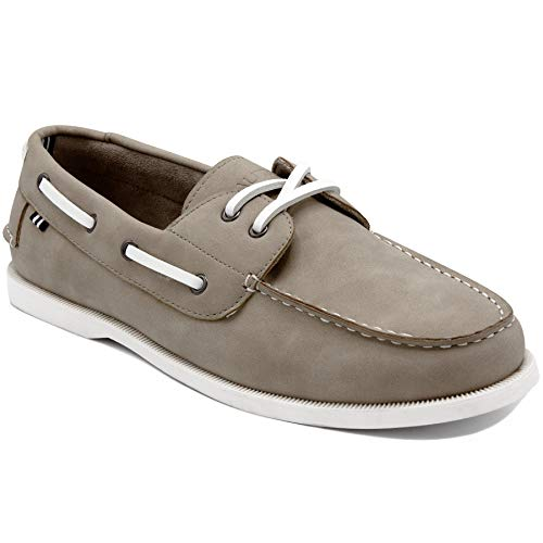 Nautica Men's Nueltin Casual Boat Shoe Loafer 2 Eye Lace Moccasins-NUELTIN 2-LT. Grey-10