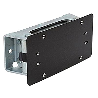 E-Autogrilles Black License Plate Mounting Bracket for Roller Fairlead (51-0487)