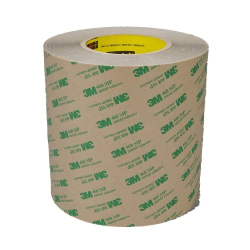 3M Adhesive Transfer Tape 468MP Clear, 24 in x 60 yd 5.0 mil (Pack of 1) by 3M