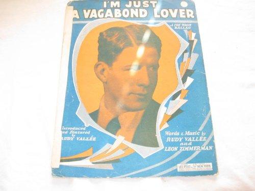 IM JUST A VAGABOND LOVER RUDY VALLEE 1929 TAPED SHEET FOLDER 438 SHEET MUSIC