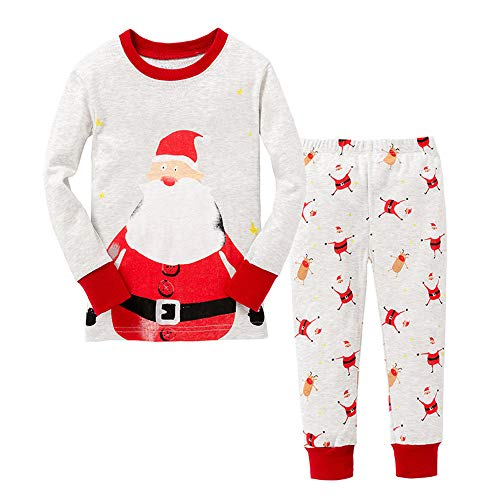 LitBud Older Boys Christmas Pajamas for Boys Childs Nightwear Sleepwear Long Sleeve Pjs Set Pyjamas Sleepsuit Size 7-8 Years 8T Christmas Thanksgiving Gift