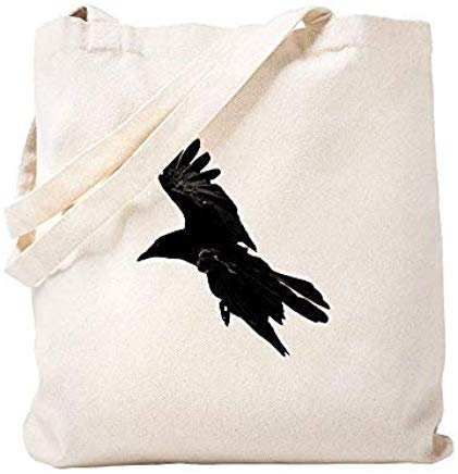 (LilithCroft99 Crow Spirit Canvas Tote Bags Funny Reusable Shopper Tote Bag Shopping Bag for Women )