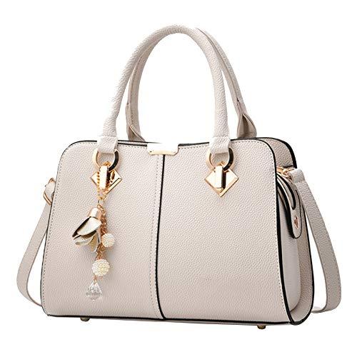 Paquet Diagonale à une épaule pour femmes de Miss Li, en forme de sac beige