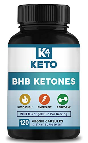K4 Keto BHB - Exogenous Ketones BHB Salts Capsules - 2000mg of Patented goBHB Beta-Hydroxybutyrate - Ketone Supplement Pills to Support Ketogenic Diet & Ketosis