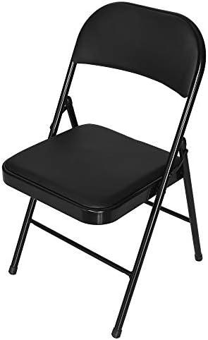 Fine Multifunctional Backrest Folding Chair Casual Office Training Chair Black Black