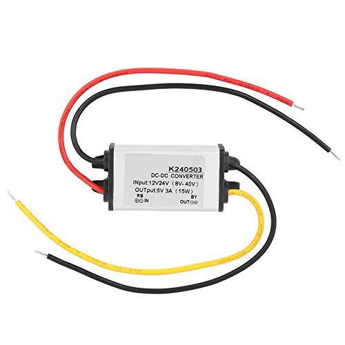 DC Converter 12/24V to 5V 3A Waterproof DC Buck Converter Step Down Voltage Regulator Module Power Supply Transformer