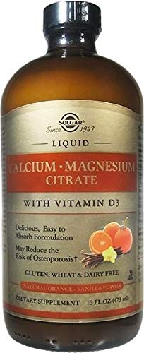 Solgar - Liquid Calcium Magnesium Citrate with Vitamin D3 - Natural Orange-Vanilla Flavor 16 oz