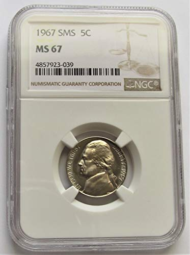 1967 Jefferson SMS Nickel MS67 NGC (Ngc Mint Jefferson Nickel)