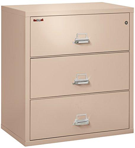 FireKing Fireproof Lateral File Cabinet (3 Drawers, Impact Resistant, Waterproof), 40.25