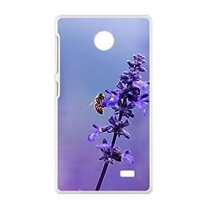 Sweet Purple Flowers White Phone Case for Nokia Lumia X