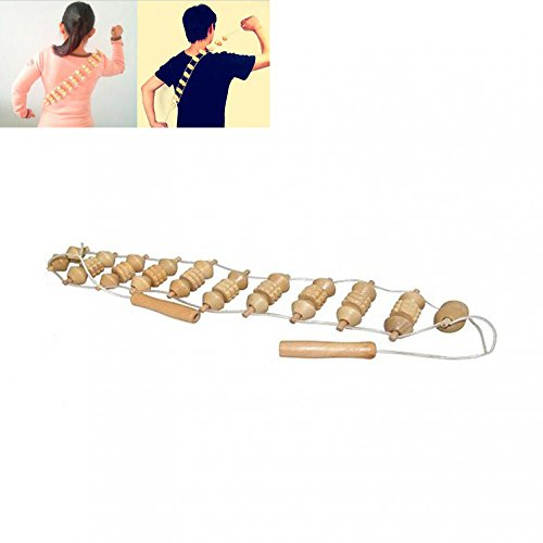 Wooden Body Roller - Zinnor Wood Back Body Massager Roller Stress Relief Wooden Tool Fitness Neck Leg Waist Self Health Care Manual Massage