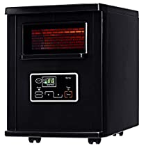 New Black,Goplus 1500W Electric Portable Infrared Quartz Space Heater Filter Remote