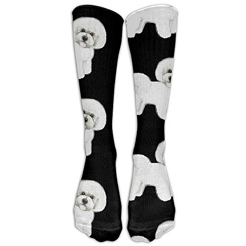 UFHRREEUR Bichon Frise Compression Socks for Men & Women - Medical Graduated - Prevent Swelling & DVT - for Training, Flight Travel, Sedentary Lifestyle - Perfect for Maternity & Pregnancy