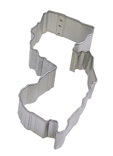 R&M New Jersey State Cookie Cutter in Durable, Economical, Tinplated Steel ()