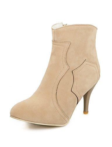 Noir-us8   eu39   uk6   cn39 XZZ  Chaussures Femme - Extérieure   Bureau & Travail   Décontracté - Noir   Marron   Rouge - Talon Aiguille -Rangers   Bout Pointu   Bottes à