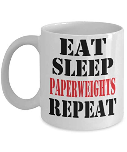 11oz Funny Paperweights Coffee Mug - Unique Cool Cute Humor Sarcasm Designer Gift Idea for Paperweights,al1259