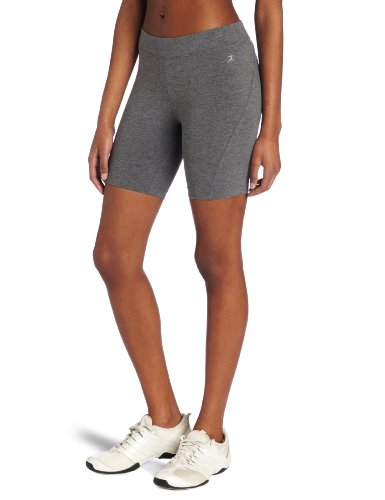 Danskin Women's Essentials Seven Inch Bike Short, Charcoal Heather, 3X (Capris Danskin)