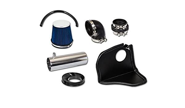 BLUE AIR INTAKE KIT HEAT SHIELD FOR 05-10 Challenger 300C HEMI 5.7L 6.1L V8