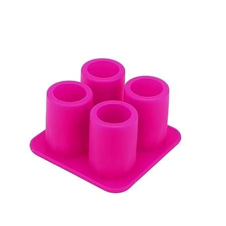 Molde de silicona para 4 vasos de chupito, ideal para fiestas de ...