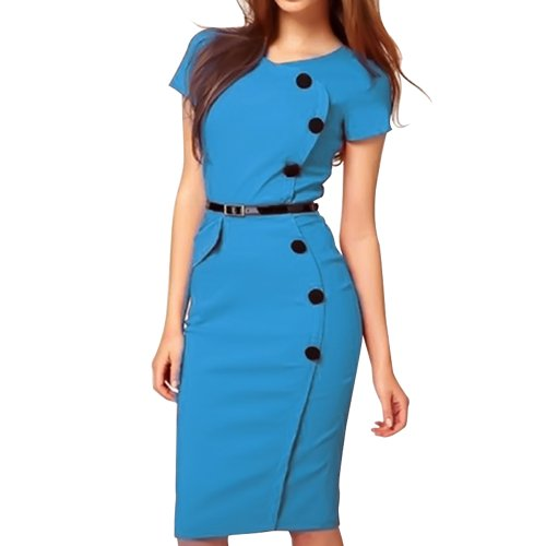 Chuangmei Womens Celeb Style Elegant Party Wear to Work Evening Dress