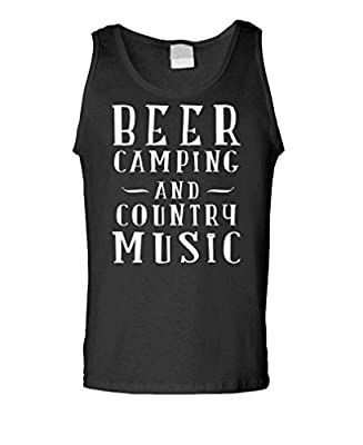 BEER CAMPING COUNTRY MUSIC - alcohol party - Mens Tank Top