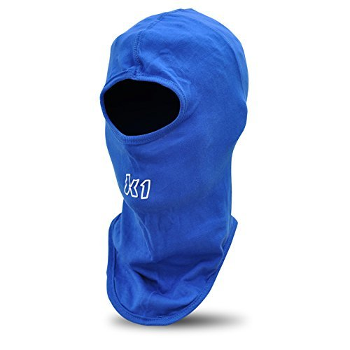 K1 Race Gear Cotton Full Face Head Sock/Balaclava (Blue) (Renewed)