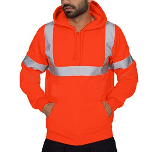 GREFER Men's Jacket Long Sleeve Hooded Sweatshirt Tops Waterproof Windproof ()