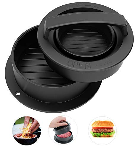 CandyHome Stuffed Burger Press Hamburger Patty Maker for Sliders, Stuffed Burgers and Patties 3 in 1 Burger Press for Cooking on The Barbecue, Stove or BBQ, Essential Kitchen & Grilling Accessories