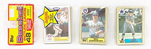 1986 Unopened 48 Count Baseball Rack Pack + 1 All Star Commemorative Card - Keith Hernandez New York Mets (49 Total Cards)