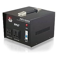 Pyle PVTC1000U Step Up and Step Down 1000-watt AC 110/220 V Converter Transformer with USB Charging Port