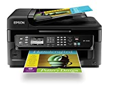 Epson WorkForce WF-2540 Wireless All-in-One Color Inkjet Printer, Copier, Scanner ADF, Fax. Prints from Tablet/Smartphone. AirPrint Compatible (C11CC36201)