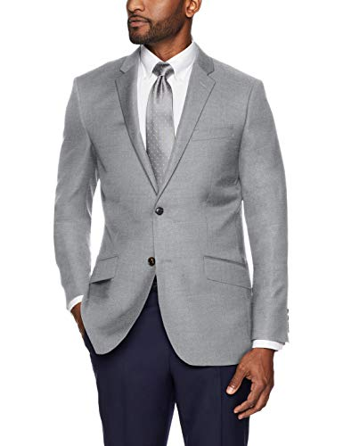 Buttoned Down Men's Slim Fit Super 110 Italian Wool Suit Jacket, Light Grey, 36 Regular