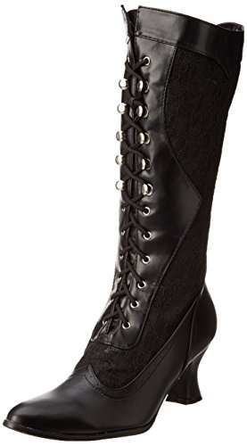 Ellie Shoes Women's 253 Rebecca Victorian Boot, Black, 8 M US