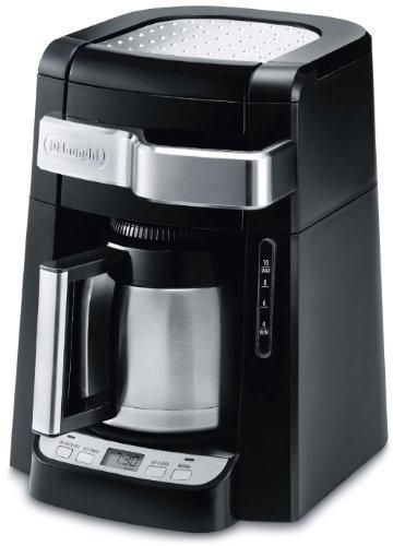 DeLonghi DCF2210TTC 10-Cup Thermal Carafe Drip Coffee Maker, Black Delonghi Automatic Drip Coffee Maker