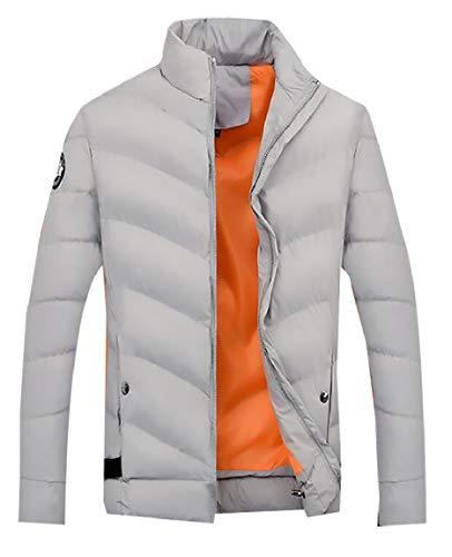 Inverno Manica Colletto Alla Grigia Packable Giacca Sicurezza Pesce Giù Lunga Palla Mens Leggero Moda Coreana drZdXx