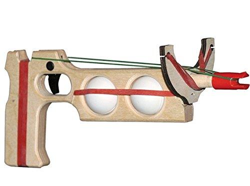 Magnum Enterprises Mini Military Ping Pong Ball Shooter (2-Ball) Combo Single Shot Rubber Band Gun