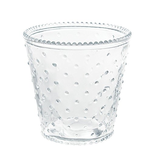 Hobnail Bud Vase - Clear Glass Hobnail Vases in a Set of 2 for Small Flowers, Accent Décor, Potted Plants, Home Décor or Tabletop Accents