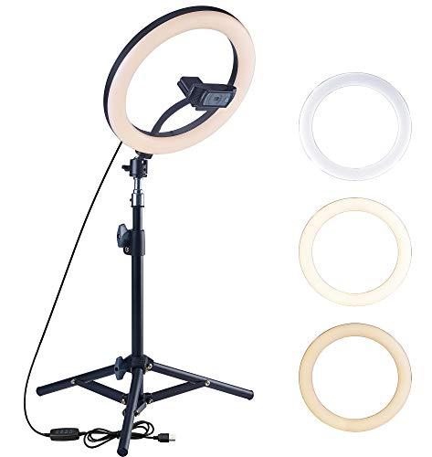 Trípode para cámara web OXENDURE con anillo de luz