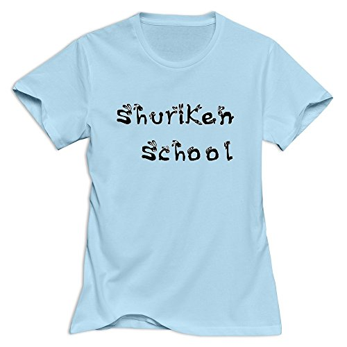 Shuriken School Rabbits Logo Crazy 100% Cotton SkyBlue T Shirt For Adult Size XXL