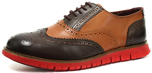 London Brogues Gatz, Herren SchnürHalbschuhe Tan/Brown w/ Red Sole