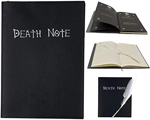 Death Note Cosplay Notebook /& Feather Pen Book Japan Anime Writing Journal 2021