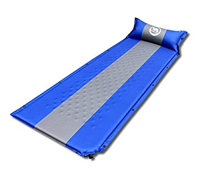 "Zoophyter ""COMFY KING"" Lightweight Portable, Easy to Compress, Self-Inflating Air Sleeping Pads with Attached Pillow"