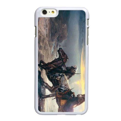 T3D80 le sorceleur de chasse sauvage K5C6GH coque iPhone 6 4.7 pouces cas de couverture de téléphone portable coque blanche HW4VSS4XV