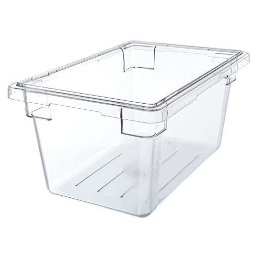 Cambro 12189CW135, Polycarbonate Camwear Boxes, 4.75 Gallon, Clear