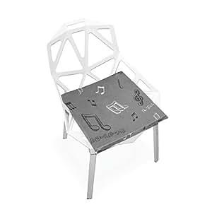 Xinxin - Cojín para asiento de asiento gris muscifi, funda suave, almohadilla antideslizante para silla, cojines, decoración del hogar, para patio, muebles, comedor, 40 x 40 cm