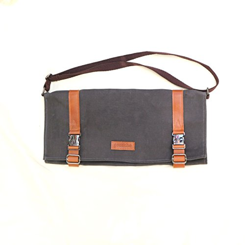 e1043ad060f2 Handmade Waxed Canvas and Leather Roll-up Tool Bag