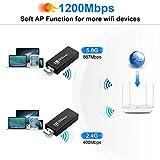 USB WiFi Adapter, Wireless USB 3.0 1200mbps WiFi