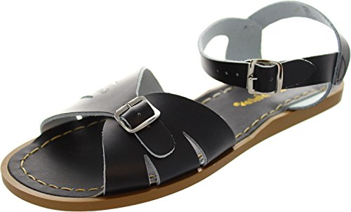 Saltwater By Hoy Women's Classic Flat Sandal, Black, 10 M US (Salt Water Sandal For Women compare prices)