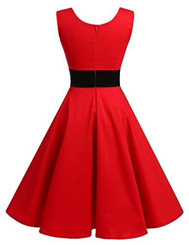 Vestido Fiesta reg; Rockabilly Retro Vintage Verano Corto Dresstells Red Mujer Cóctel BS5Zqg5nw