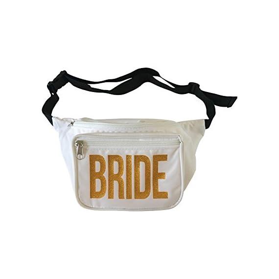ea92c89b2b90 Bachelorette Party Bride Squad Fanny Packs by Bachelorette Box 2 SHINE  BRIGHT WITH GOLD GLITTER LETTER